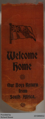 Welcome Ribbon, Boer War