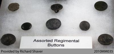 Assorted Regimental Buttons