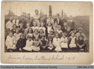 Scotland School Junior Room Class Photo, 1918