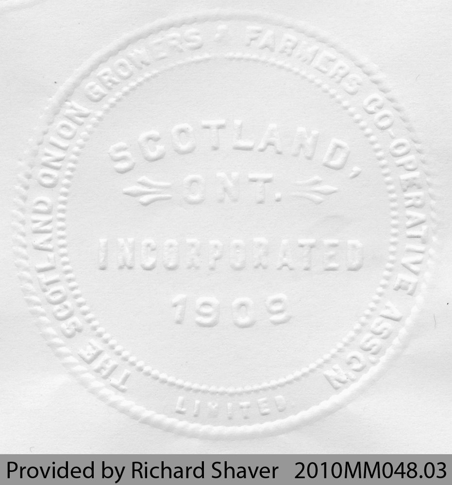 The Scotland Onion Growers' Farmers Co-Operative Association Limited Seal Embosser
