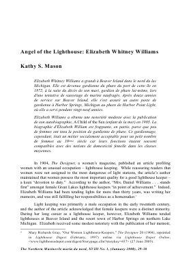 Angel of the Lighthouse: Elizabeth Whitney Williams