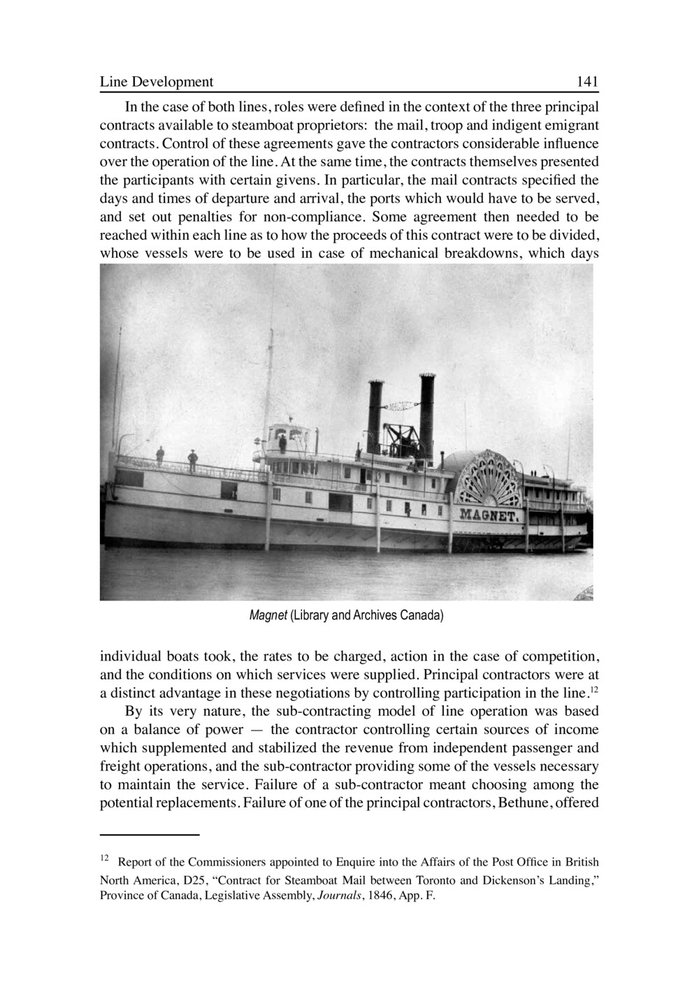 Line Development and the Passenger Steamboat Trade on Lake Ontario and the Upper St Lawrence River, 1829-1875