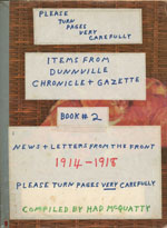 Items from Dunnville Chronicle + Gazette, Book 2, Letters from the front 1914-1918 (Green Cover)