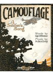"Sheet music for the song ""Camouflage: A soldiers song"""