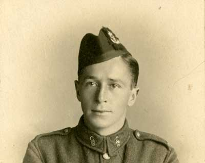 Photograph of a young soldier