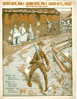 "Sheet music for song ""Long Boy"""