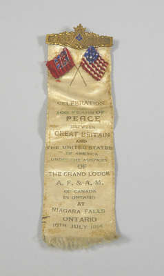 Celebration of 100 Years of Peace, Great Britain and the United States of America- Commemorative Ribbon