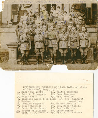 114th Battalion Officers at Ruthven