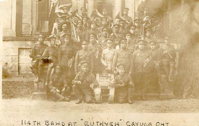 114th Battalion Band at Ruthven