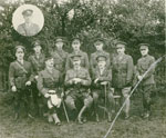Group Photo, 10 Soldiers, with Inset
