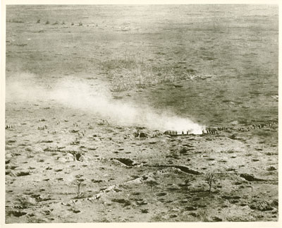 Aerial photo of the advance on the Somme