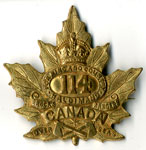 114th Battalion Maple Leaf pin