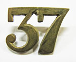 Brass 37th battalion pin