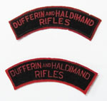 Dufferin and Haldimand Rifles shoulder flash