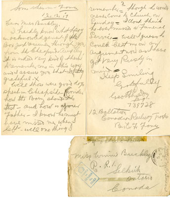 Letters from Geo. Shields