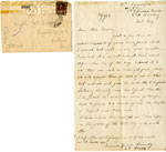 Handwritten letters from S. J. Quel to Miss W. Buckley
