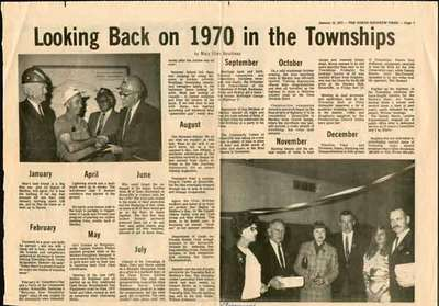 Looking Back on 1970 in the Townships
