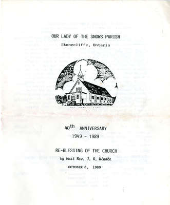 Our Lady of the Snows 40th Anniversary Pamphlet