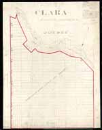 Clara Township Map ca.1885