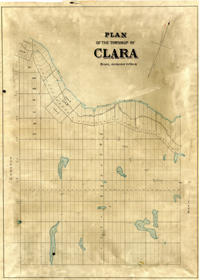 Map of Clara Township