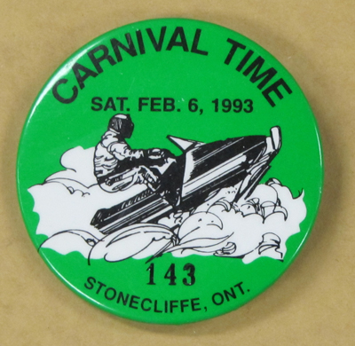Carnival Time Button, Stonecliffe ca.1993