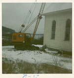 Demolition of St. Lawrence Parish, Deux Rivières c.1969