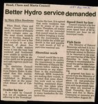 Better Hydro Service Demanded