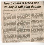 Head, ClaraMaria has its Say in Rail Plan Debate