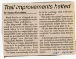 Trail Improvements Halted