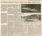Commemorating the Historic Rapids of the Upper Ottawa River