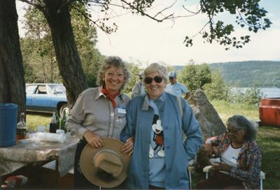 Mary Ellen Boudreau: Seniors Picnic Old Mackey's Park c.1985
