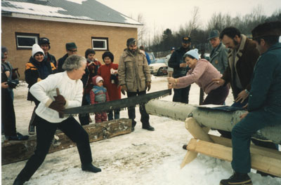 Winterfest Log sawing Competition