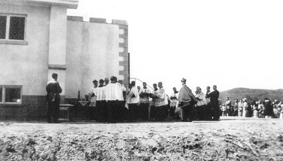 Opening Ceremonies for Our Lady of The Snows Church c.1950