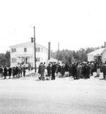 Official opening of OLS church on June 18, 1950, viewed from across highway