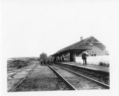 CPR Station at Deux Rivierés October 17, 1900