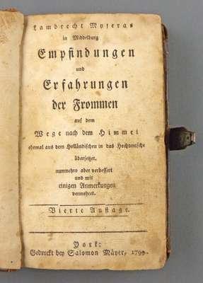 German Bible that Belonged to Salomon Moyer- 1799