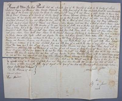 Land Deed Between Archibald Jones and Sam Clendennan in the Township of Louth- 1816