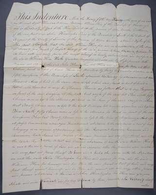 Land Indenture Between William Hare and John Honsberger- 1811