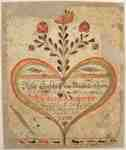 Fraktur Bookplate by Christian Honsberger- 1793