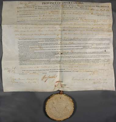 Land Deed for Abraham High- 1807