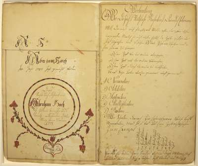 Fraktur School Work Book- 1798