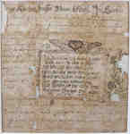 Fraktur Pastoral Admonition- 1788