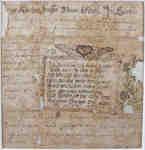 Fraktur Pastoral Admonition- 1788