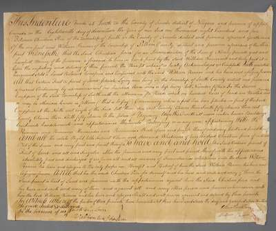 Land Deed Between Christian Price and William Renner- 1805