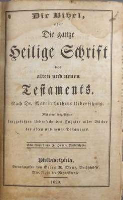 Bible Belonging to Abraham Moyer- 1801