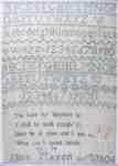 Ellen Mason Sewing Sampler- 1806