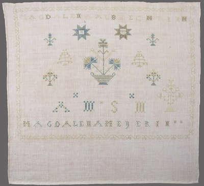 Sewing Sampler by Magdalena Meyerin- c. 1800