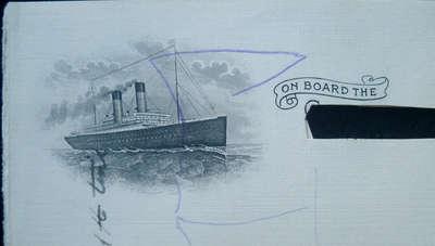 Letterhead of RMS Fraconia