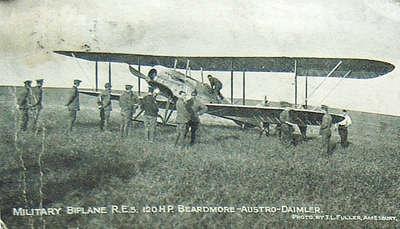 Military Biplane R.E.S. 120 HP Beardmore-Austro-Daimler