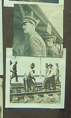 Railway Gang and Two Officers